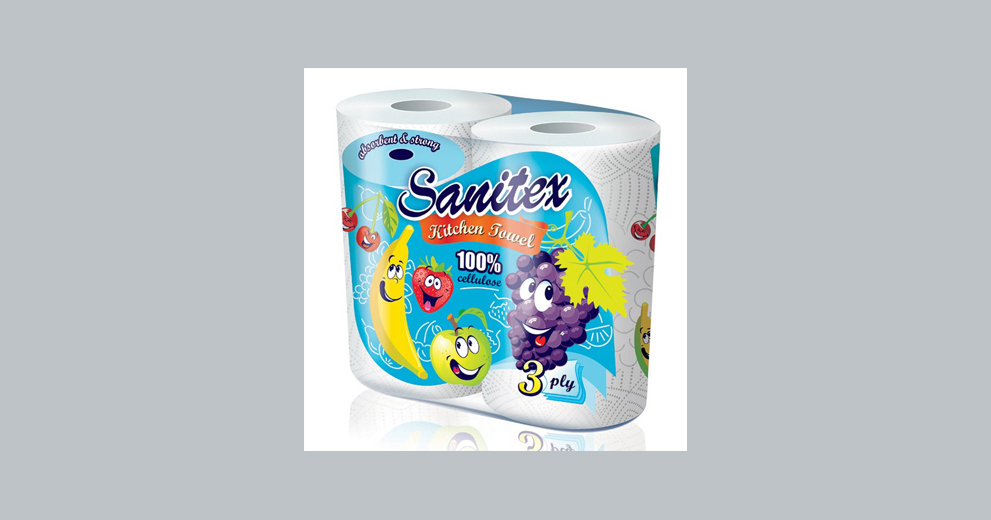 Sanitex Toilet And Kitchen Paper Silver Advertising